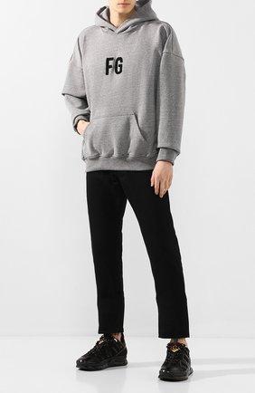 Мужские комбинированные кроссовки union BURBERRY черного цвета, арт. 8024947 | Фото 2 (Подошва: Массивная; Материал внутренний: Текстиль; Материал внешний: Текстиль; Стили: Гранж)