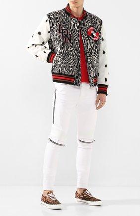 Мужские текстильные кеды BURBERRY бежевого цвета, арт. 8024906   Фото 2