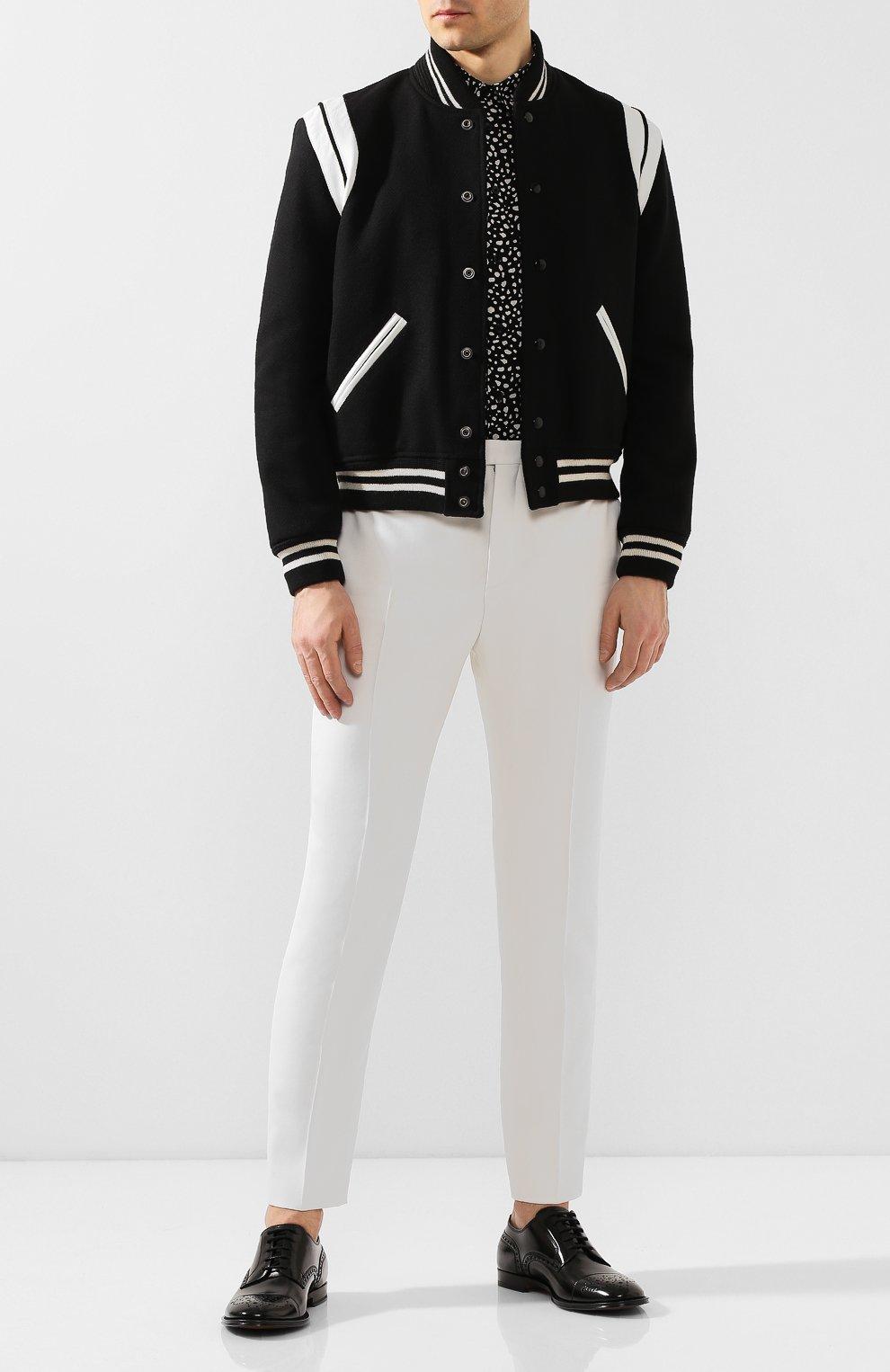 Мужские кожаные дерби DOLCE & GABBANA черно-белого цвета, арт. A10553/AX161 | Фото 2