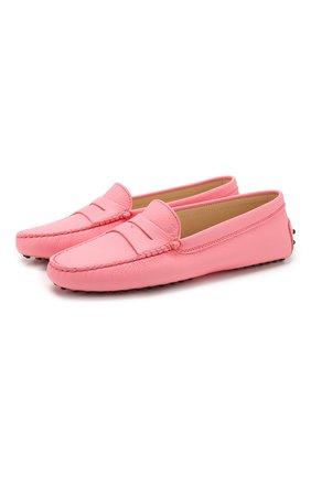 Женские кожаные мокасины TOD'S розового цвета, арт. XXW00G000105J1 | Фото 1