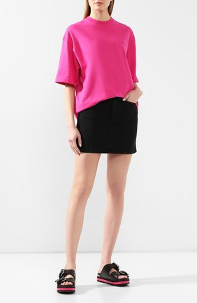 Женские кожаные шлепанцы ALEXANDER MCQUEEN розового цвета, арт. 611722/WHXN3   Фото 2