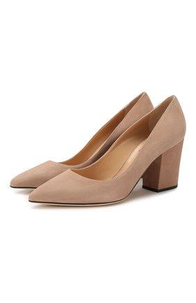 Женская замшевые туфли SERGIO ROSSI бежевого цвета, арт. A85320-MCAZ01 | Фото 1