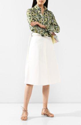 Женские замшевые сандалии SERGIO ROSSI бежевого цвета, арт. A88410-MAFM46 | Фото 2