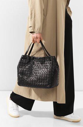 Женская сумка-тоут BOTTEGA VENETA черного цвета, арт. 600510/VCPP1 | Фото 2