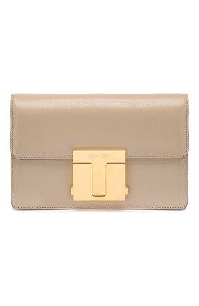 Женская сумка TOM FORD бежевого цвета, арт. L1262T-LG0009   Фото 1