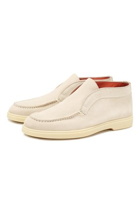 Женские замшевые ботинки SANTONI светло-серого цвета, арт. WUYA58458TISCPYLI30 | Фото 1