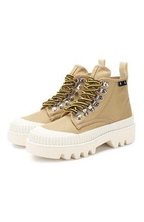 Женские текстильные ботинки lug sole PROENZA SCHOULER бежевого цвета, арт. PS32051A/11135 | Фото 1