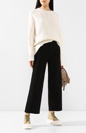 Женские текстильные ботинки lug sole PROENZA SCHOULER бежевого цвета, арт. PS32051A/11135 | Фото 2