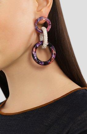 Женские серьги LELE SADOUGHI фиолетового цвета, арт. LS0813PM | Фото 2