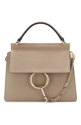 Женская сумка faye small CHLOÉ бежевого цвета, арт. CHC20SS203H20   Фото 1
