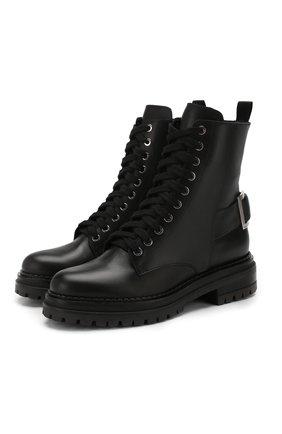 Женские кожаные ботинки SERGIO ROSSI черного цвета, арт. A88890-MMV120 | Фото 1