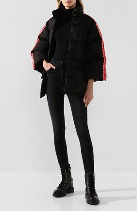 Женские кожаные ботинки SERGIO ROSSI черного цвета, арт. A88890-MMV120 | Фото 2