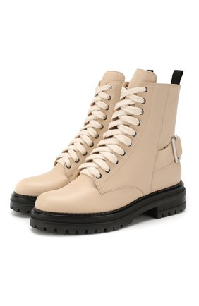 Женские кожаные ботинки SERGIO ROSSI бежевого цвета, арт. A88890-MNAN07 | Фото 1
