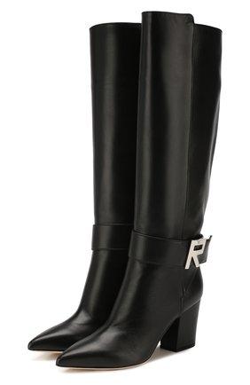 Женские кожаные сапоги SERGIO ROSSI черного цвета, арт. A89090-MNAN07 | Фото 1