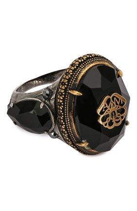 Женское кольцо ALEXANDER MCQUEEN черного цвета, арт. 607119/J160U | Фото 1