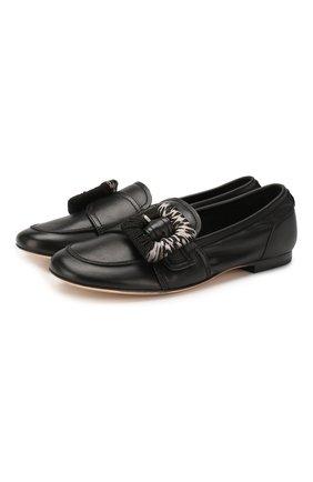 Женские кожаные лоферы AGL черного цвета, арт. D744037SCS0FTY0000 | Фото 1