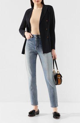 Женские кожаные лоферы AGL черного цвета, арт. D744037SCS0FTY0000 | Фото 2