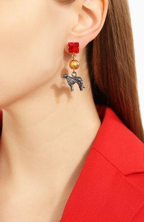 Женские серьги MARNI красного цвета, арт. 0RMV0146A1/M2000 | Фото 2