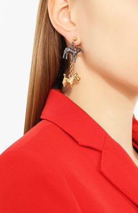 Женские серьги MARNI золотого цвета, арт. 0RMV0146N0/M2000 | Фото 2