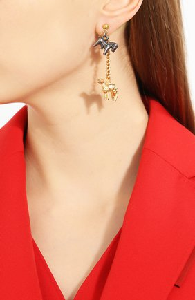 Женские серьги MARNI золотого цвета, арт. 0RMV0146N0/M2000 | Фото 4