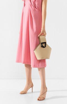 Женская сумка johnny mini DANSE LENTE коричневого цвета, арт. MINI J0HNNY/TAN | Фото 2