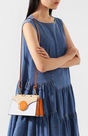 Женская сумка phoebe mini DANSE LENTE голубого цвета, арт. MINI PH0EBE/PALE BLUE/TAN | Фото 2