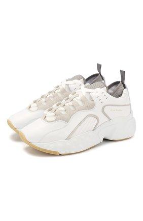 Женские кожаные кроссовки manhattan ACNE STUDIOS белого цвета, арт. AD0004/W | Фото 1