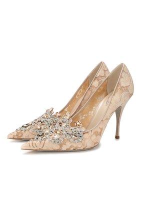 Женская туфли veneziana RENE CAOVILLA бежевого цвета, арт. C10263-100-PC01V980 | Фото 1