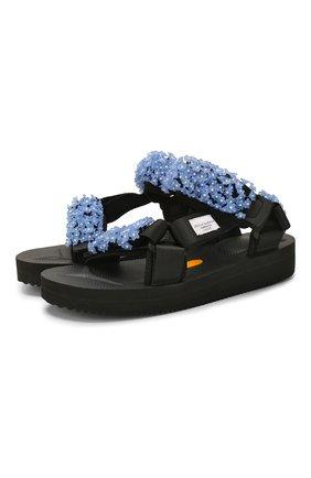 Женские текстильные сандалии CECILIE BAHNSEN черного цвета, арт. PS20-SH01 | Фото 1