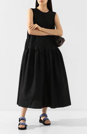 Женские текстильные сандалии CECILIE BAHNSEN черного цвета, арт. PS20-SH01 | Фото 2