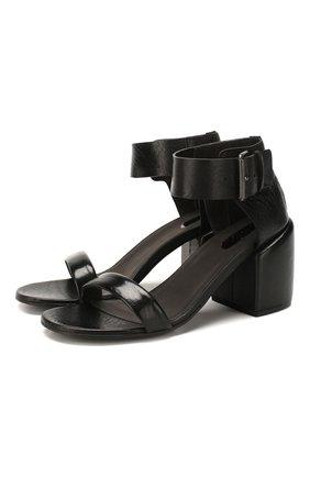 Женские кожаные босоножки MARSELL черного цвета, арт. MW5963/PELLE V0L0NATA | Фото 1