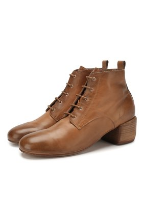 Женские кожаные ботильоны MARSELL светло-коричневого цвета, арт. MW5947/PELLE VITELL0 | Фото 1