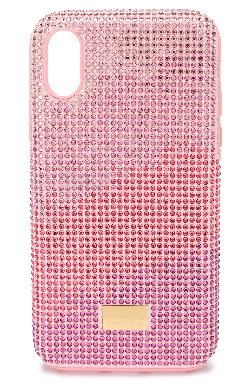 Мужской чехол для iphone x/xs SWAROVSKI розового цвета, арт. 5449510   Фото 1