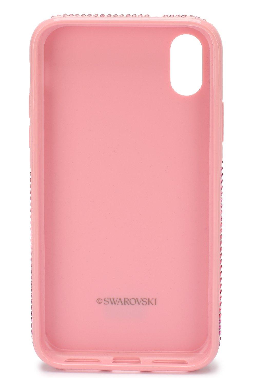 Мужской чехол для iphone x/xs SWAROVSKI розового цвета, арт. 5449510   Фото 2
