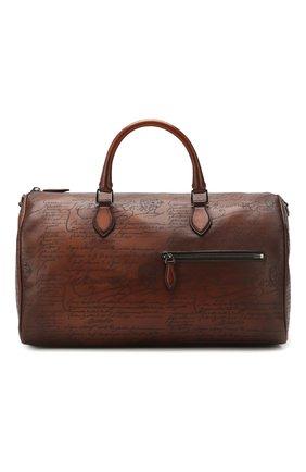 Мужская кожаная дорожная сумка BERLUTI коричневого цвета, арт. M190648 | Фото 1