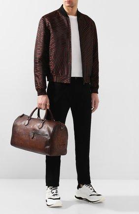 Мужская кожаная дорожная сумка BERLUTI коричневого цвета, арт. M190648 | Фото 2