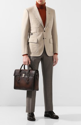 Мужской кожаный портфель BERLUTI коричневого цвета, арт. M124253 | Фото 2