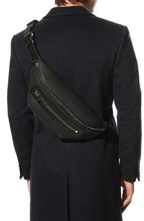 Мужская кожаная поясная сумка TOM FORD черного цвета, арт. H0396P-LCL037 | Фото 2