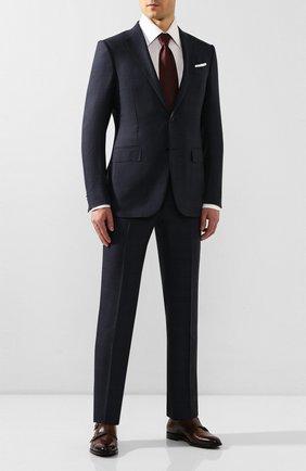 Мужские кожаные монки DOUCAL'S темно-коричневого цвета, арт. DU1048KAVIUF159TM02 | Фото 2