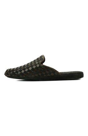 Мужского домашние туфли HOMERS AT HOME хаки цвета, арт. 16097/ANTE | Фото 4