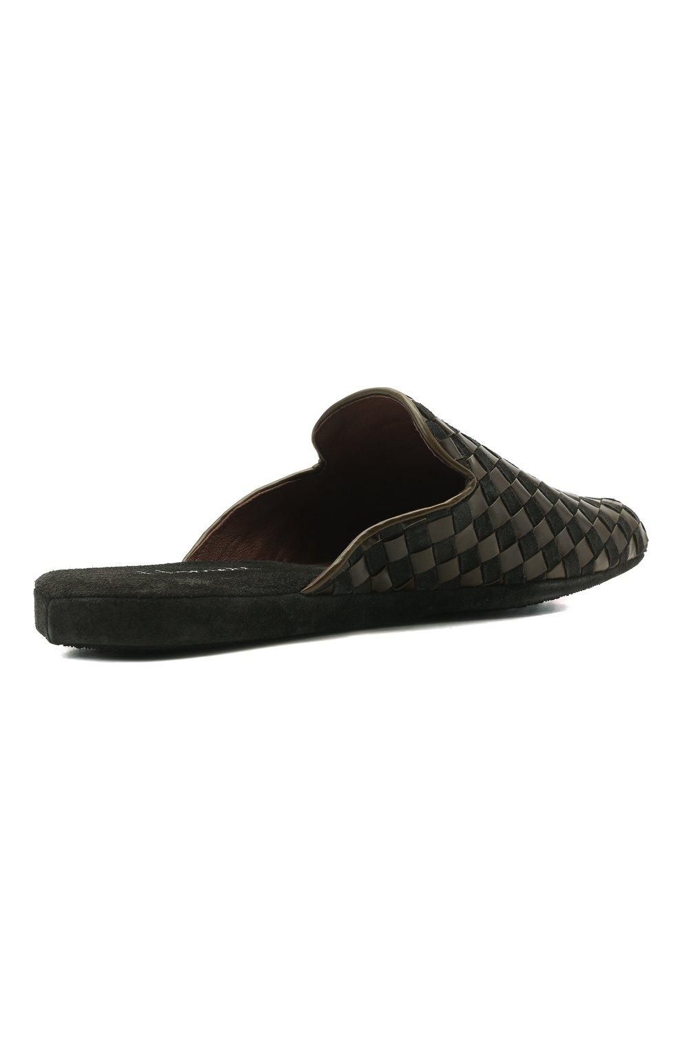 Мужского домашние туфли HOMERS AT HOME хаки цвета, арт. 16097/ANTE | Фото 5