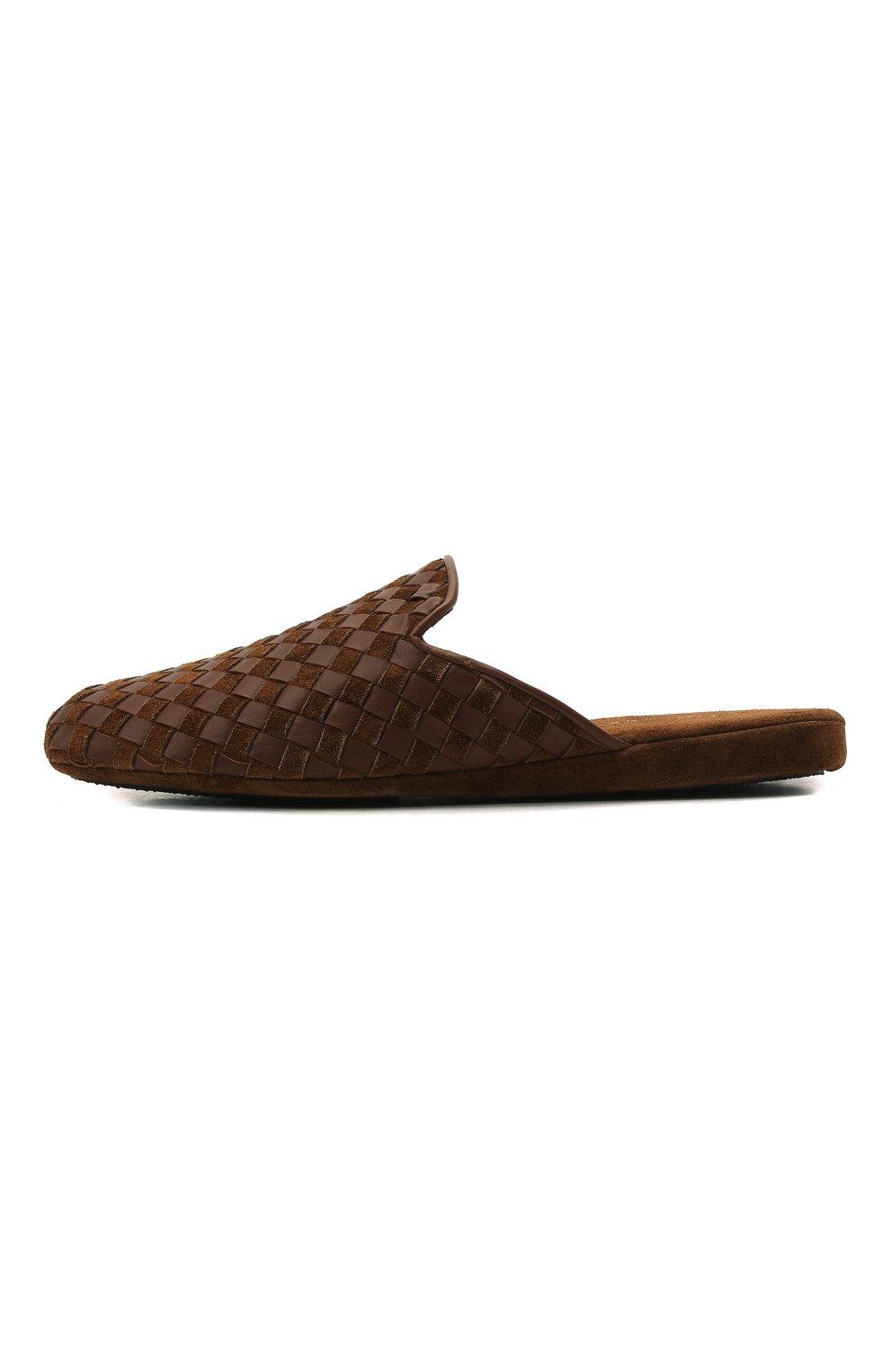Мужского домашние туфли HOMERS AT HOME светло-коричневого цвета, арт. 16097/ANTE | Фото 4 (Материал внутренний: Натуральная кожа; Мужское Кросс-КТ: тапочки-обувь)