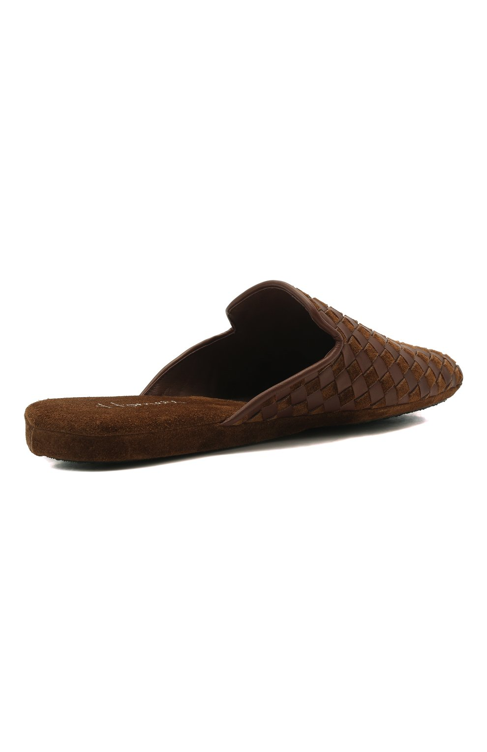 Мужского домашние туфли HOMERS AT HOME светло-коричневого цвета, арт. 16097/ANTE | Фото 5 (Материал внутренний: Натуральная кожа; Мужское Кросс-КТ: тапочки-обувь)