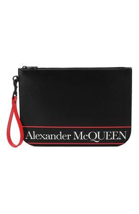 Мужская кожаный клатч ALEXANDER MCQUEEN черного цвета, арт. 550815/1SJ1B | Фото 1