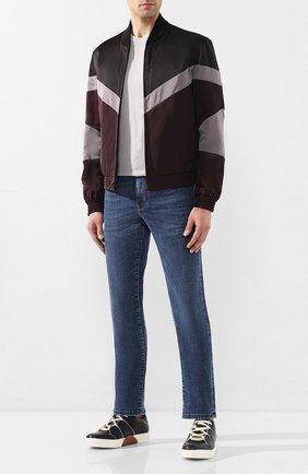 Мужские кожаные кеды ZEGNA COUTURE темно-синего цвета, арт. A2975X-LHJUN | Фото 2
