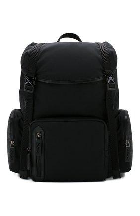 Мужской текстильный рюкзак ZEGNA COUTURE черного цвета, арт. C1566X-LHB0L | Фото 1