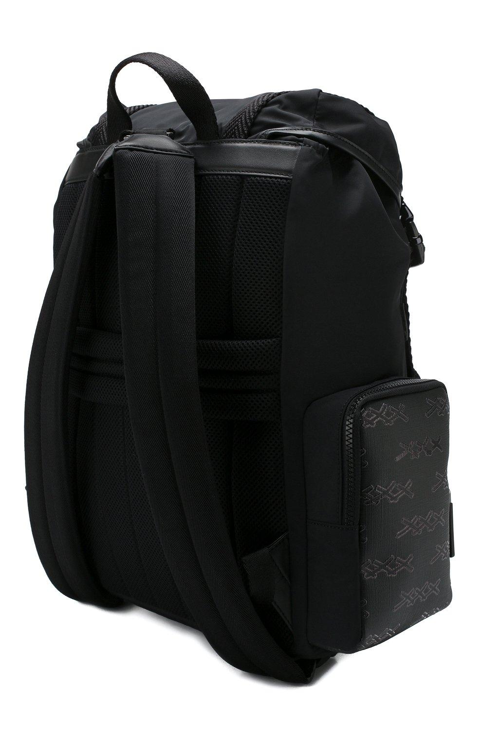 Мужской текстильный рюкзак ZEGNA COUTURE черного цвета, арт. C1566X-LHB0L | Фото 3