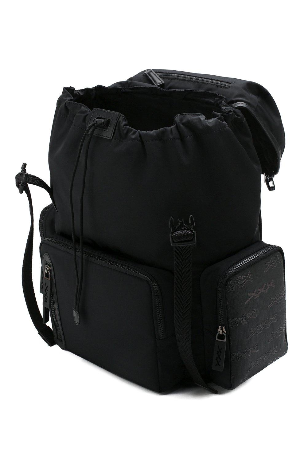 Мужской текстильный рюкзак ZEGNA COUTURE черного цвета, арт. C1566X-LHB0L | Фото 4