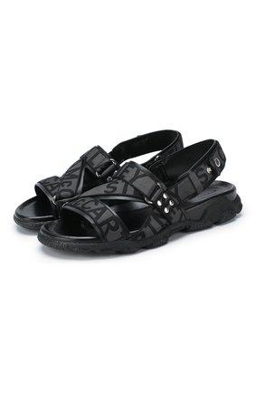 Мужские текстильные сандалии STELLA MCCARTNEY черного цвета, арт. 557424/N0045 | Фото 1