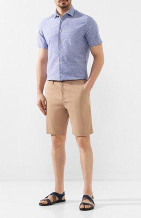 Мужские комбинированные сандалии DOUCAL'S темно-синего цвета, арт. DU1903MALIPF284NB00 | Фото 2